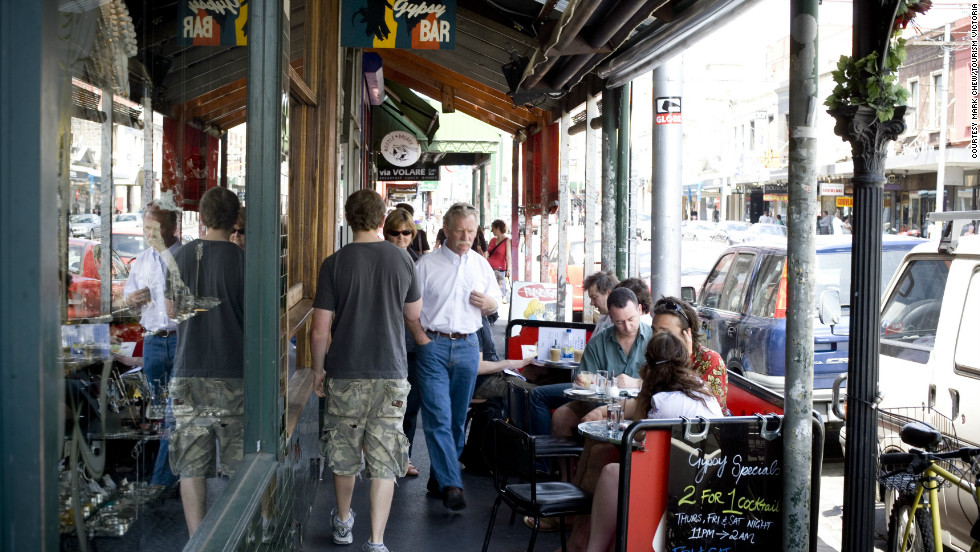 Fitzroy's Brunswick Street (shown here) and Gertrude Street can satisfy the diner while giving the shopper options for fun and cool finds.