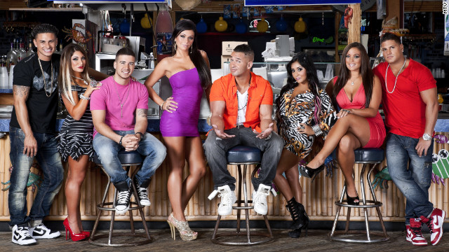 "The cast of ""Jersey Shore"" gets unruly at times, and the show's cameras draw crowds."