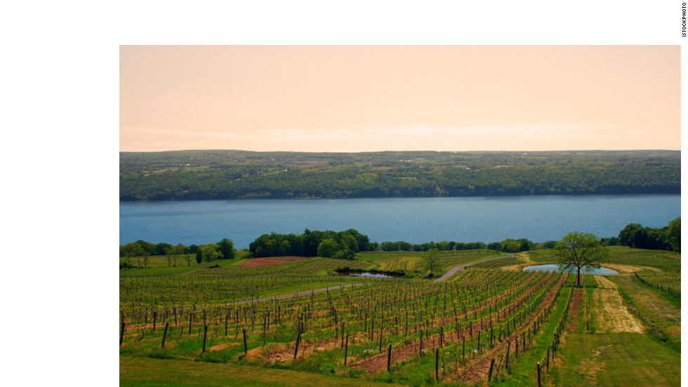 With more than a hundred vintners, the Finger Lakes region of Upstate New York is the prime wine region of the Eastern U.S.
