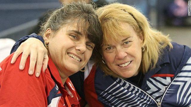 U.S. Paralympic table tennis players Tara Profitt, left, and Pam Fontaine.