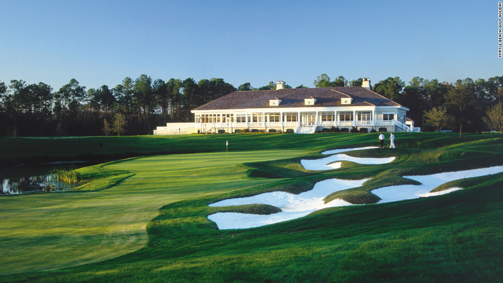 The superb clubhouse at the TPC Myrtle Beach -- one of the many classic courses used as a host venue by the World Amateur Handicap Championship.