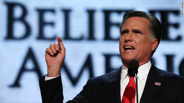 What did voters think of Romney at RNC?