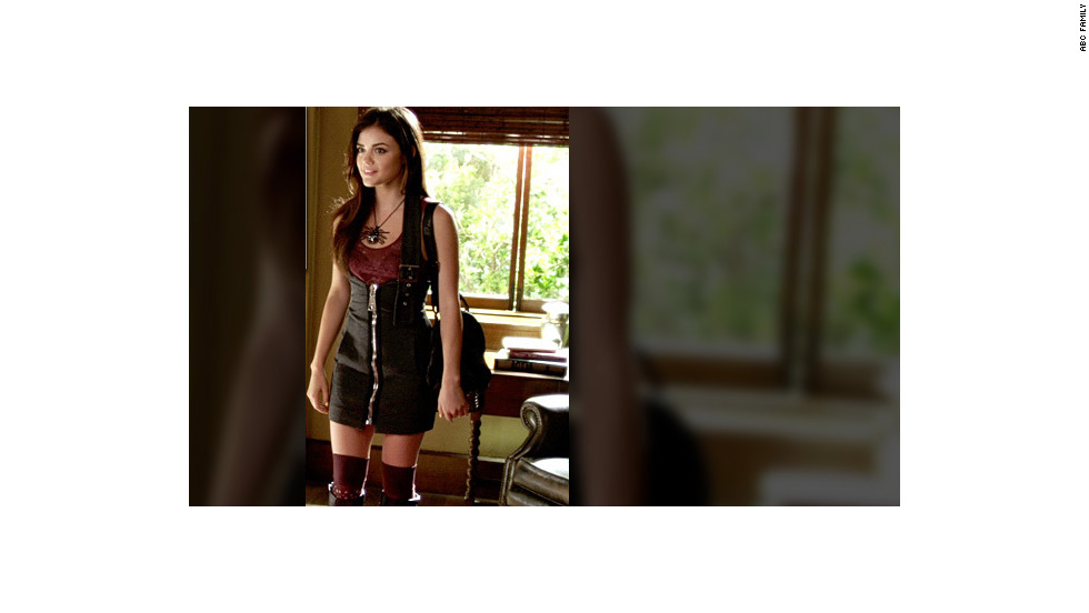 """Byron was supposed to disapprove of his daughter's outfit in this scene, Line said, adding, """"All (Aria) does is wear outfits any dad would question, so what would make Byron think twice now? ... We had to make it more revealing and shorter and (add) a gothic necklace."""""""