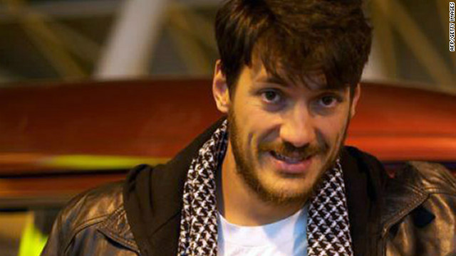 Freelance photographer Austin Tice pictured in Cairo in March 2012.
