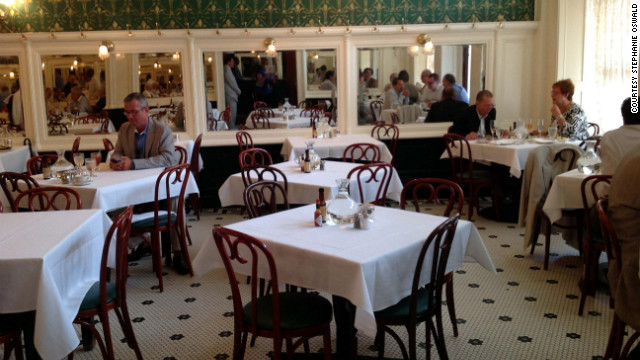 Empty tables during Friday lunch are an unusual sight at Galatoire's in the French Quarter.