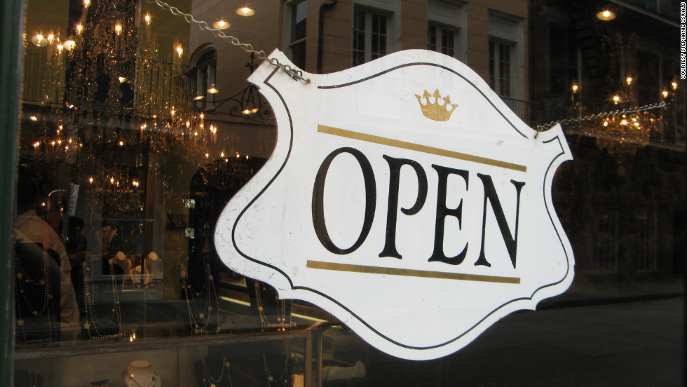 Businesses in the French Quarter and other major New Orleans tourism hubs were open for business on Friday.