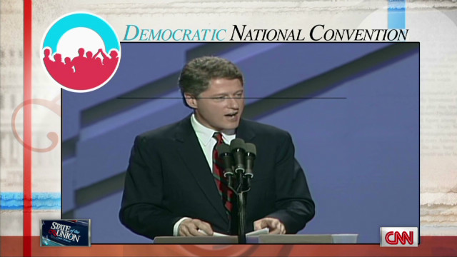 Bill Clinton's long convention history