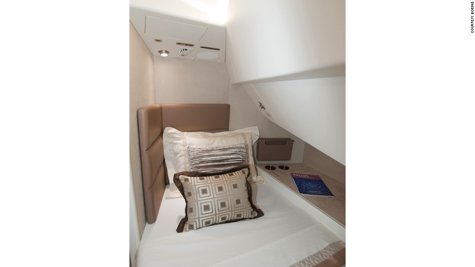 The Aeroloft sleeping area fitted on VIP BBJ 747-8 aircraft was installed by Boeing Global Transport & Executive Systems (GTES) in Kansas.
