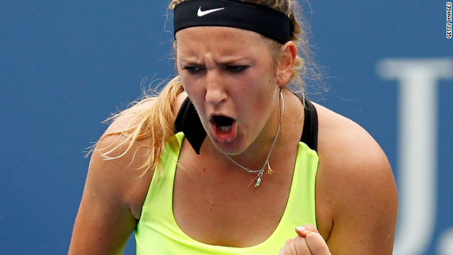 A pumped up Victoria Azarenka saw off defending champion Samantha Stosur in the U.S. Open quarterfinals.