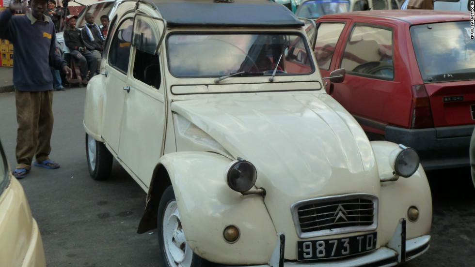 This taxi, manufactured by the French carmaker Citroen, is an example of the country's international influence.