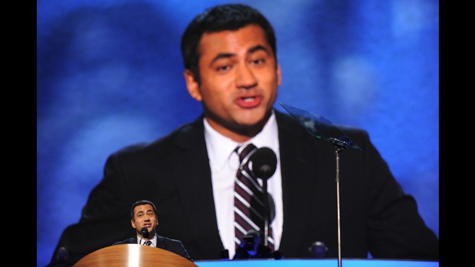 Actor-producer Kal Penn speaks on Tuesday.