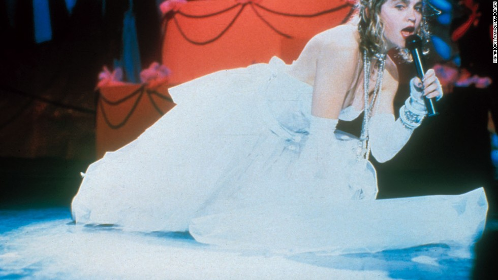 "Here's a look back at some of the most memorable MTV Video Music Awards moments over the years. Dressed in a revealing wedding dress, lace gloves and her infamous ""boy toy"" belt, Madonna performed ""Like a Virgin"" at the first Video Music Awards in 1984. Her album of the same name, which dropped that November, went on to become one of the best-selling albums of all time. Click through to see how many you remember:"