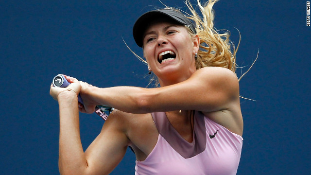 Maria Sharapova turns up the heat during her quarterfinal victory over Marion Bartoli at the U.S. Open.