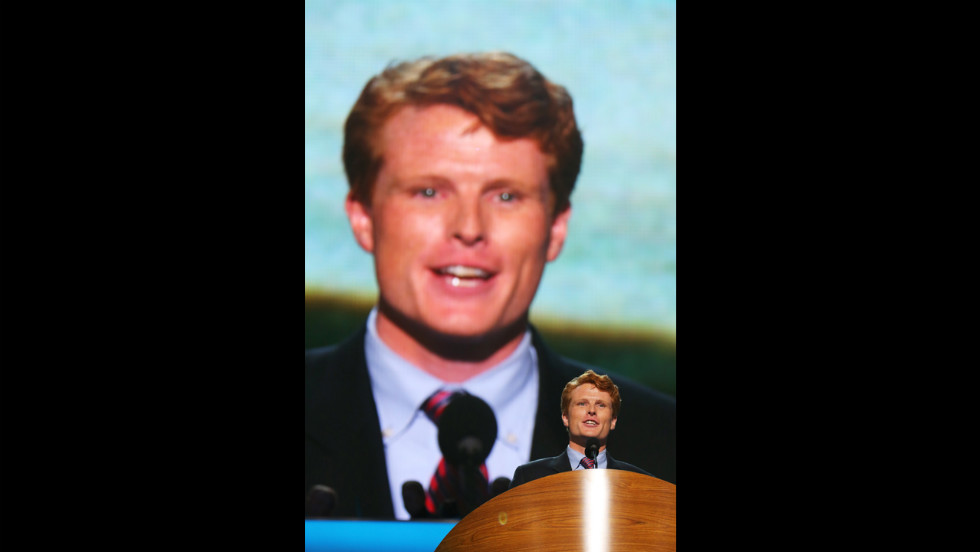 Joe Kennedy III speaks Tuesday during the Democratic National Convention.