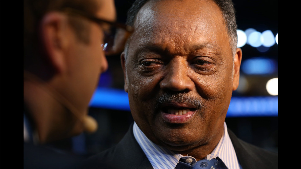 The Rev. Jesse Jackson attends the convention.