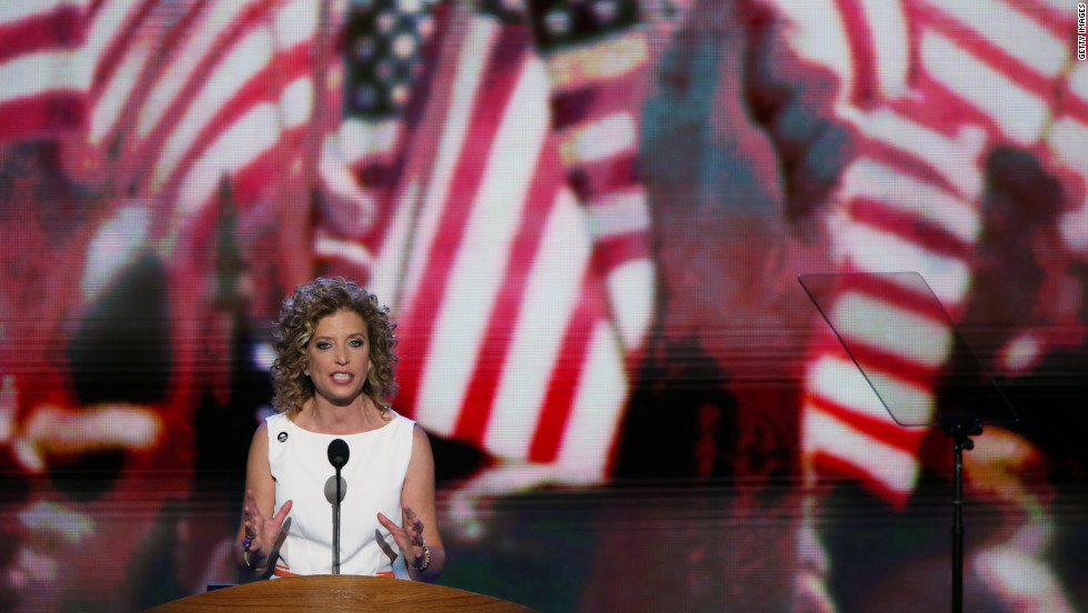 U.S. Rep. Debbie Wasserman Schultz, the Democratic National Committee chairperson, opens Tuesday's program.