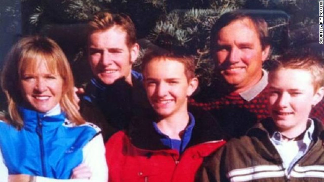 Kim Tofferi, with her sons Tim, Jordan and Tad, and late husband Ernie, who died at age 47 from a heart attack.
