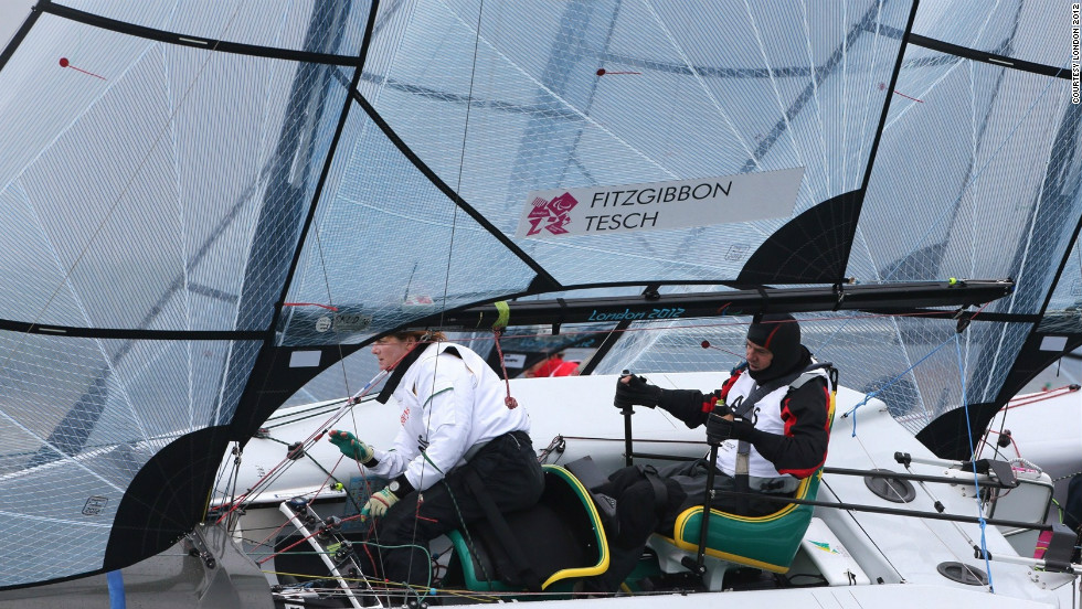Daniel Fitzgibbon and Liesl Tesch of Australia are the first to have been guaranteed gold with a race to spare at this year's Paralympic sailing events. Fitzgibbon, a quadriplegic, has used state-of-the-art technology to be able to compete.