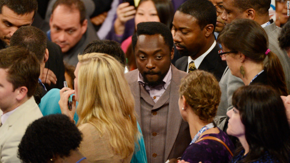 Black Eyed Peas performer will.i.am attends the convention on Tuesday.
