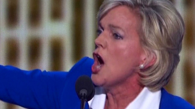 Animated Granholm fires up DNC