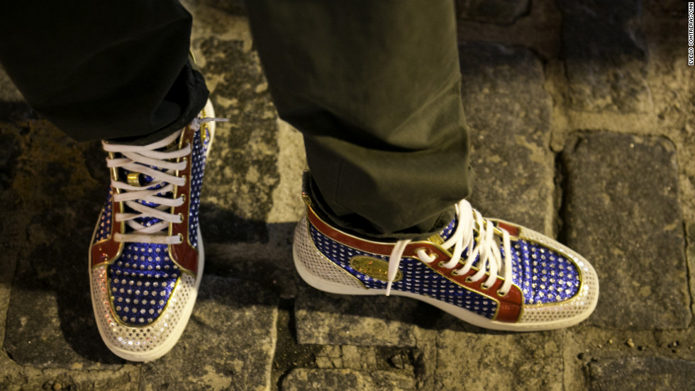 A pair of stylish sneakers hit the street.