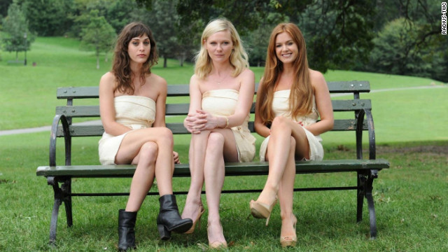 """Bachelorette"" stars Lizzy Caplan, Kirsten Dunst and Isla Fisher."