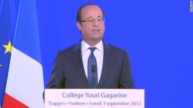 Francois Hollande's public storm