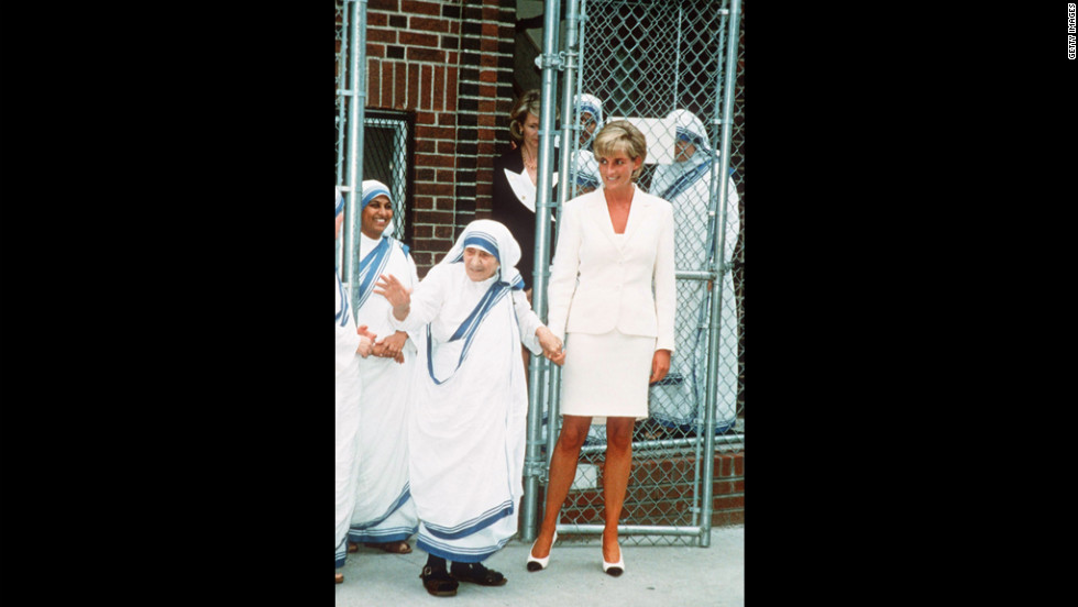 Diana, Princess of Wales, meets with Mother Teresa in New York in June 1997, months before the women died within days of each other.