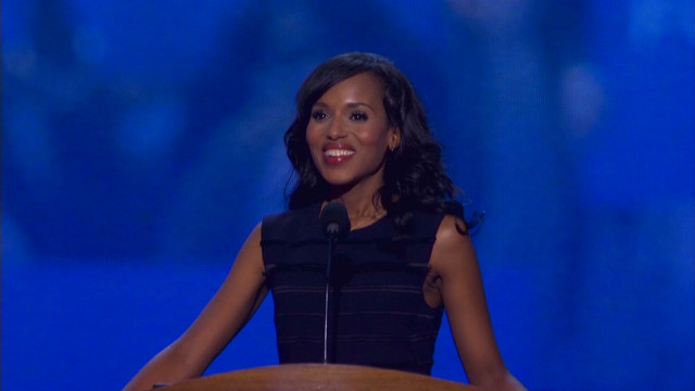 Watch Kerry Washington's DNC speech