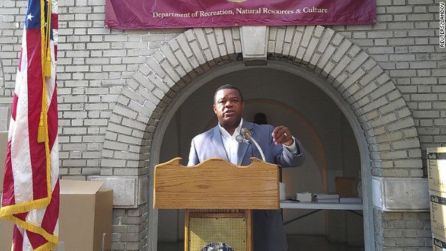 Mayor Tony Mack speaks in Trenton, New Jersey, in August.