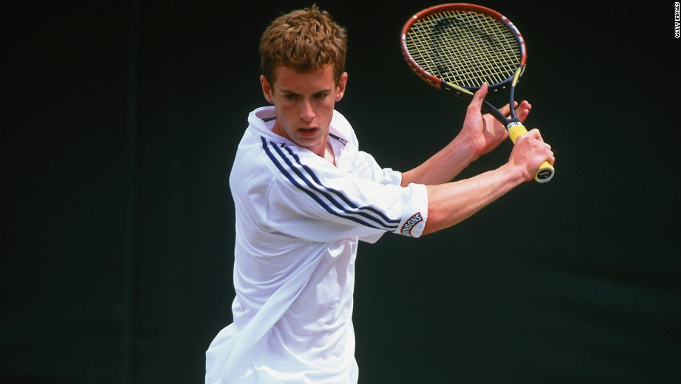 Murray, seen here on court in the junior tournament during the 2002 Wimbledon Championships, went to Spain as a teenager to hone his tennis skills.