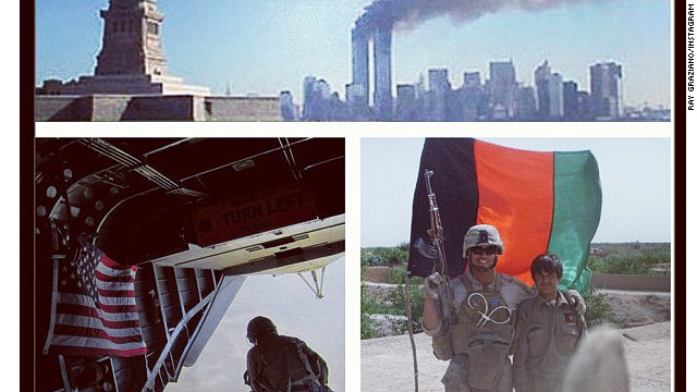 Former Marine Ray Graziano posted this 9/11 memorial photo on Instagram