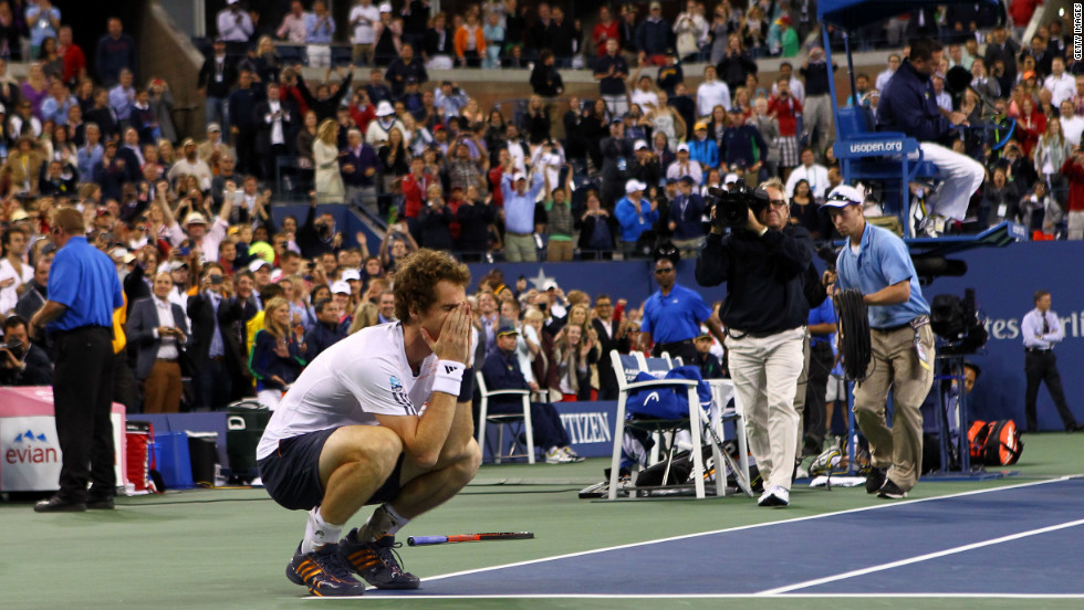 Murray then became the first British man to win a grand slam title since Fred Perry in 1936 after winning last September's U.S. Open following a titanic tussle with Novak Djokovic.