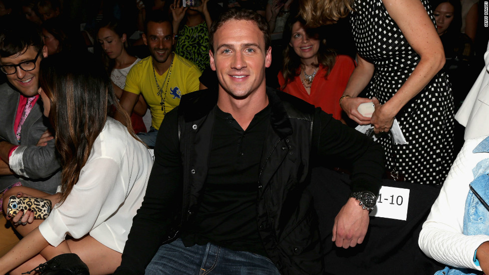 Eleven-time Olympic medalist Ryan Lochte has a front-row seat for the Rebecca Minkoff show.
