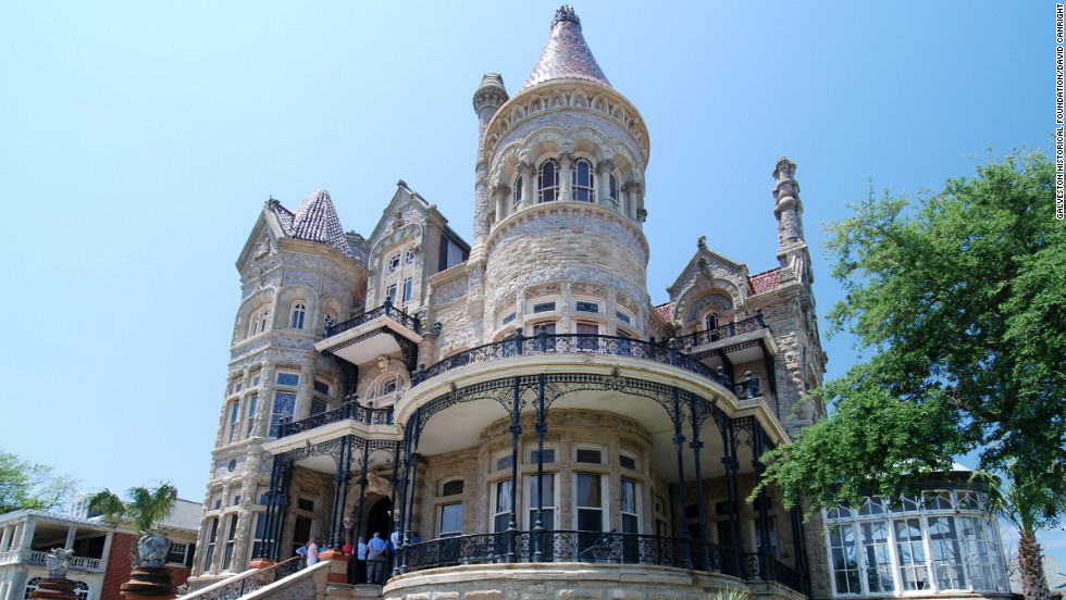 "Bishop's Palace in Galveston, Texas, was built from 1887 to 1892 for Santa Fe railroad magnate Walter Gresham. <a href=""http://www.budgettravel.com/slideshow/photos-12-amazing-american-castles,8851/"" target=""_blank"">See more photos of the castles</a>"