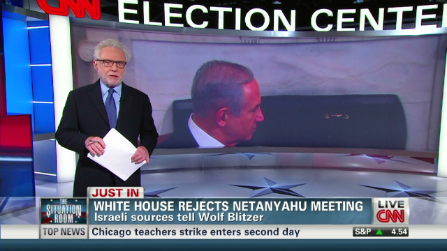 White House rejects Netanyahu meeting