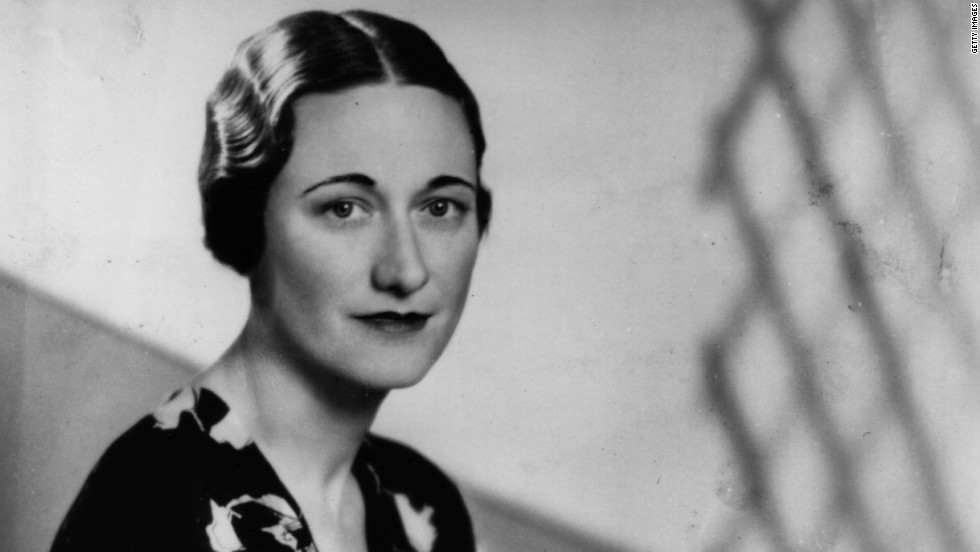 Britain's King Edward VIII tells the nation he has abdicated to marry American socialite and divorcee Wallis Simpson, pictured, on December 11, 1936. His brother immediately succeeds him as King George VI.