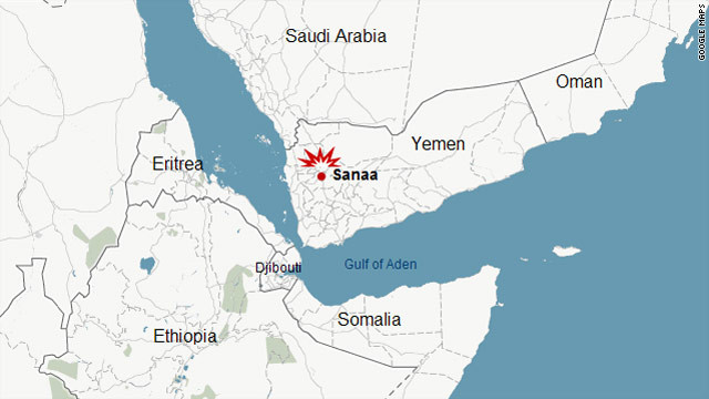 The blast took place in the center of Yemen's capital, Sanaa.