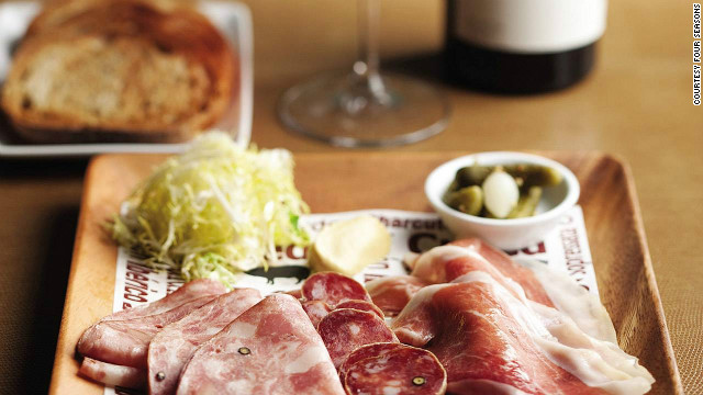 A smorgasbord of cured meats served up at the iconic Four Seasons restaurant in New York