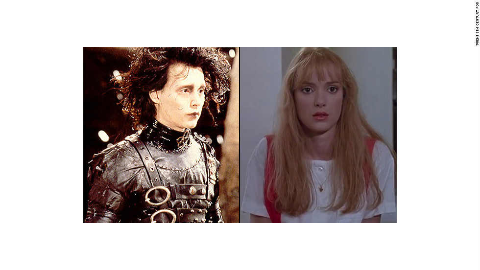 """Johnny Depp and Winona Ryder dated after co-starring in """"Edward Scissorhands"""" in 1990. Although they broke up, Depp can't resist a co-star: he's engaged to Amber Heard, who starred alongside him in 2011's """"The Rum Diary."""""""