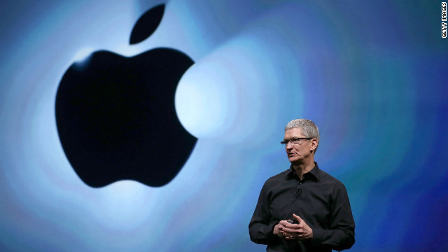 Tim Cook's total pay fell by 99 per cent to $4.17m for the year to September 29, according to a filing to the SEC on Thursday