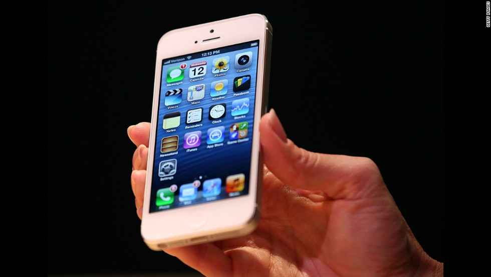 The iPhone 5 looks similar to previous models but has a larger screen and is lighter and thinner than the iPhone 4S.