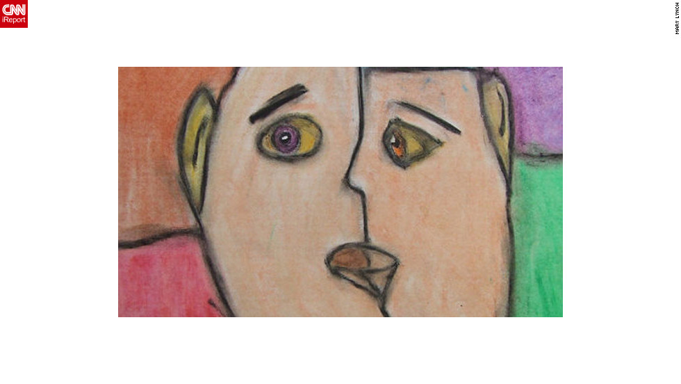 "<a href=""http://ireport.cnn.com/docs/DOC-839865"">Mary Lynch</a> is an art teacher in Virginia. This is an art piece one of her students did after a lesson on Picasso. Lynch is not in a union, and she fears most people do not understand that nonunion teachers are lower on the pay scale than union teachers."