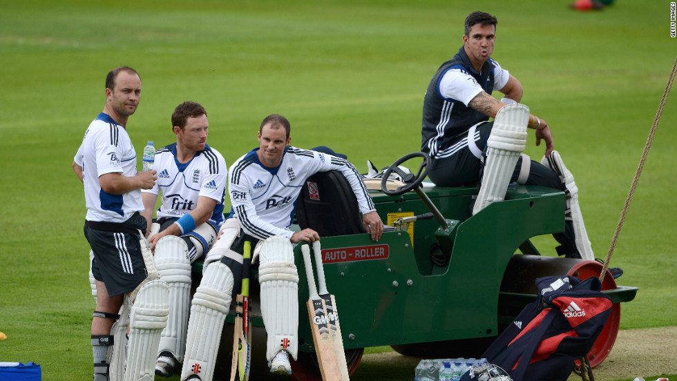 "Cricketer Kevin Pietersen (right) was dropped from the England team after sending ""provocative"" texts about his own teammates to rival South African players while the two sides were playing Test matches against one another earlier this year."