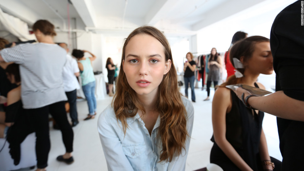 Vujevic plans on returning to university in Croatia after New York Fashion Week. Modeling is exciting but exhausting, she says.