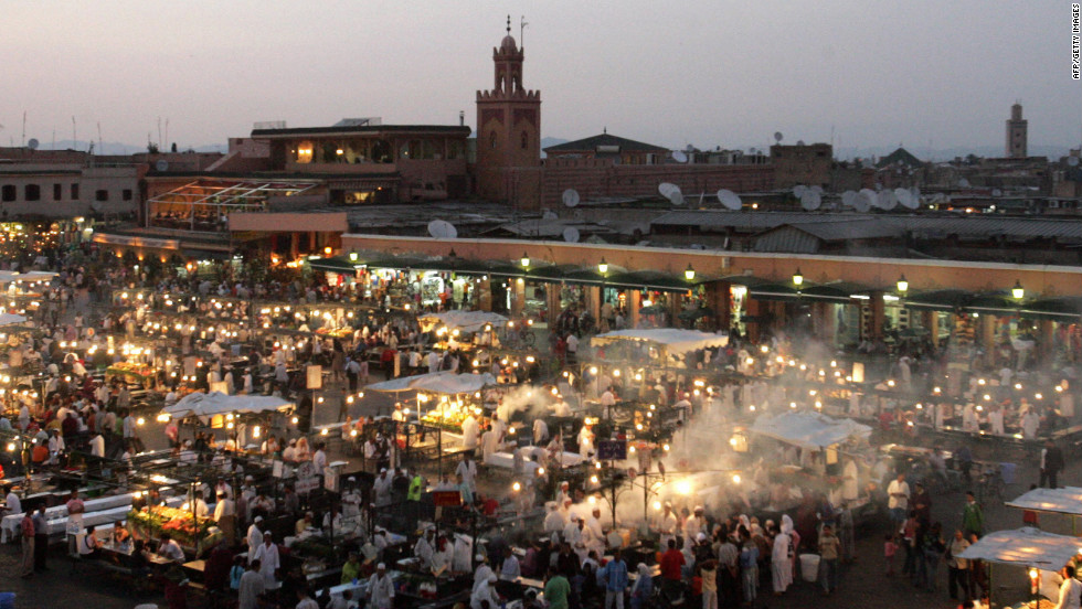 Soak up the souks and Marrakech's vibrant square, where food vendors set up a feast for the eyes in the evening.