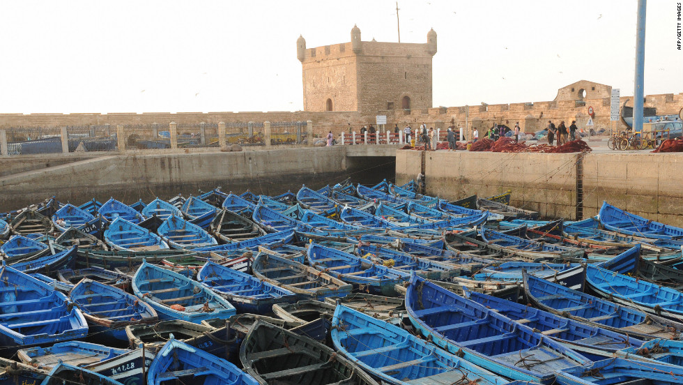 Then unwind in the blue and white town of Essaouira on Morocco's west coast.