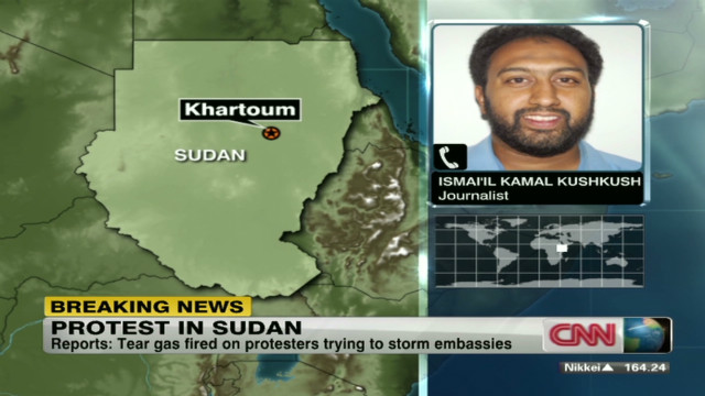 Protest targets German embassy in Sudan