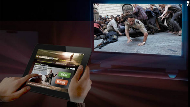 """Network AMC has created an interactive mobile app called Story Sync for its """"Walking Dead"""" series."""