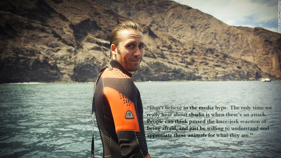 "Phillippe Cousteau: ""Don't beleive in the media hype. The only time we really hear about sharks is whene there;s an attack. People can think passed the knee-jerk reaction of being afraid, and just be willing to understand and appreciate these animals for what they are."""